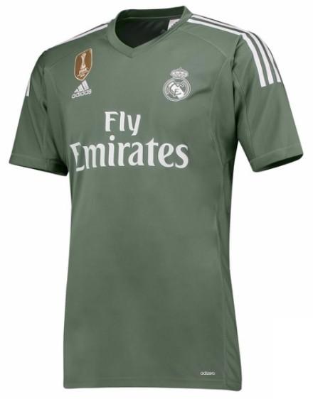 4cde61773cde Мужская форма голкипера футбольного клуба Реал Мадрид 2017 2018 (комплект   футболка + шорты