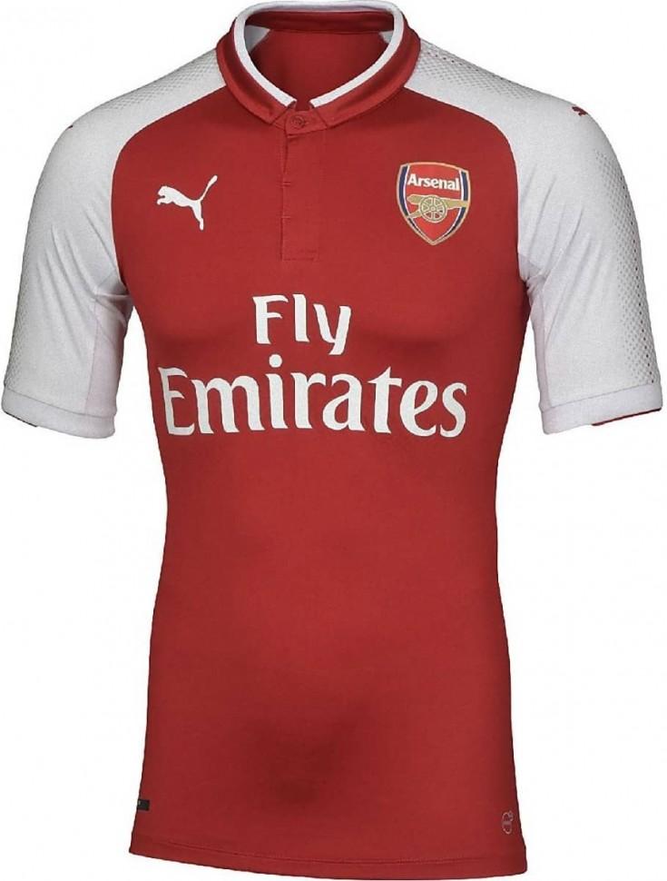 0f299c9bc80d Форма футбольного клуба Арсенал Лондон 2017 2018 (комплект  футболка + шорты  + гетры